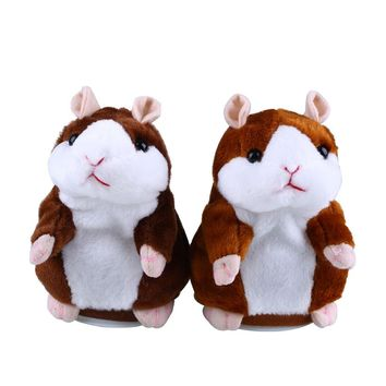Talking Hamster Speak Talk Toy Sound Record Repeat Stuffed Plush Animal Child Toy