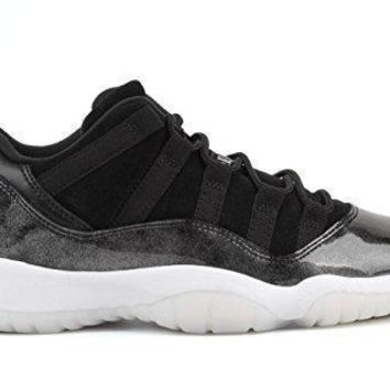 Nike Air Jordan Junior GS Big Kids Retro 11 Low Basketball Shoes Black/White/Metallic