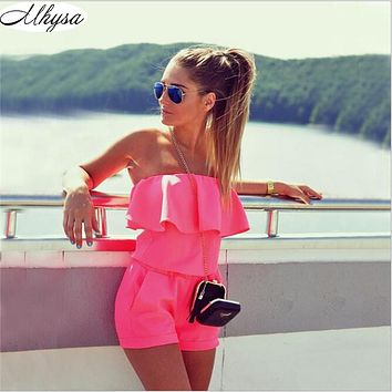 Mhysa Dresses Womens Beach 2018 Summer Women Fashion Casual Ruffles