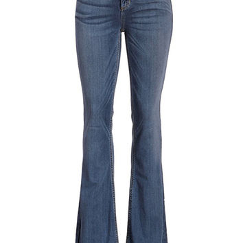 For the Record Blue Denim 70's Flare Jeans