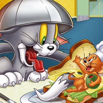 5D Diamond Painting Tom and Jerry Sandwich Kit