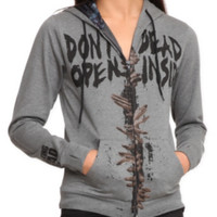 The Walking Dead Dead Inside Girls Zip Hoodie