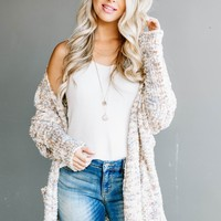 Neutral Popcorn Pocket Cozy Cardigan