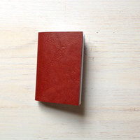 Notebook: Small Blank Journal, Red, Dark Red, Bound, Notebook, Small, Jotter, Mini Journal, Small Notebook, Unique, Red Journal, Red