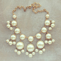 Pree Brulee - Diaphanous Pearl Bauble Necklace