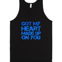 Heart Made Up On You tank-Unisex Black Tank