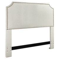 Mercury Row Luna Nail Trim Upholstered Headboard