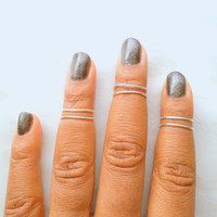 6 Above Knuckle Ring, Adjustable Finger Ring, Golden Slim Stackable rings, Edgysheeq statement rings for everyday Flair