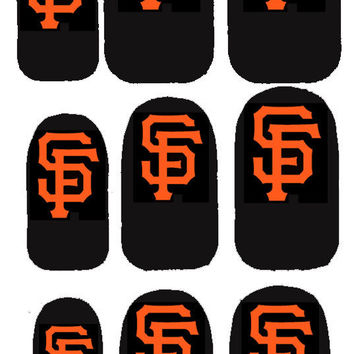 GO TEAM GO San Francisco Giants Nail Decals