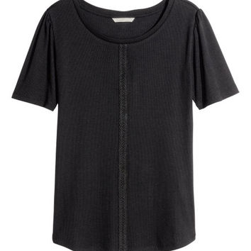 Ribbed Top - from H&M