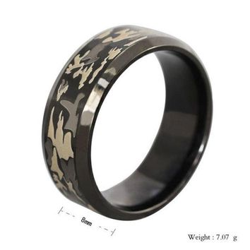 ICIKIX3 Mstyle 316L Stainless Steel Superman Finger Rings Men's titanium Camouflage steel Ring ooring ta0028 = 1945916164