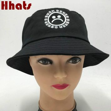 Which in shower women men fisherman sad boy bucket hat hip hop navy white black red sadboy summer sun panama cry face bonnie cap