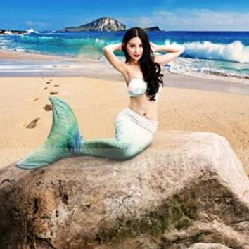 Child mermaid costume Mermaid tails for swimming Adult Mermaid Tail and bra Zeemeerminstaart Tail Swimmable Swimwear