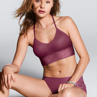Unlined Super Soft Midline Bralette - PINK - Victoria's Secret