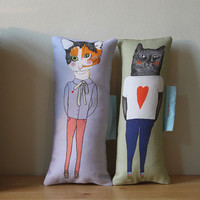 Pillow set Boyfriend Girlfriend by nicolaclare7 on Etsy