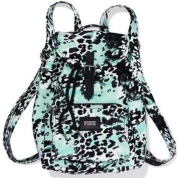 Victorias Secret Pink Mint Green White Black Leopard Cheetah Print Mini Backpack