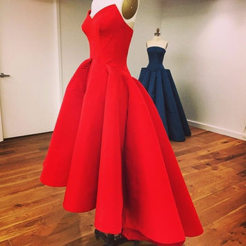 Vestidos De Festa 2017 New fashion Short design party red bule color Prom dresses 2017 short prom dresses