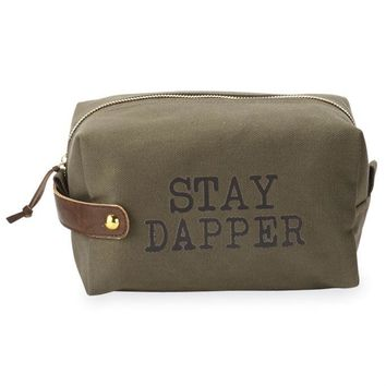 'Stay Dapper' Dopp Kit By Mudpie