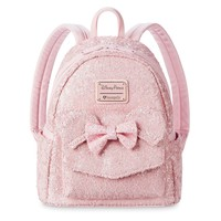 Disney Minnie Mouse Mini Pink Sequined Backpack by Loungefly New with Tags