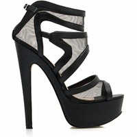 Swirly Girl Strappy Mesh Platforms