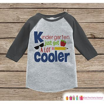 Kids First Day of School Shirt - Boys 1st Day of Kindergarten Outfit - Boys Grey Raglan Tee - 1st Day of School Tshirt - Back to School Top