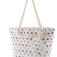 Anchor's Away Canvas Tote