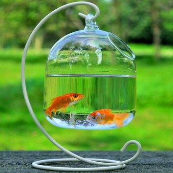Glass Vase Fish Bowl Hydroponic Vase Hanging Vase Glass Ornaments Decoration