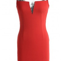 The Red Lace Bodycon Dress