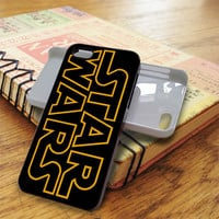 Yellow Line Font Star Wars iPhone 5C Case