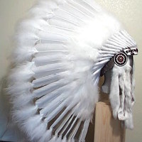 White Headdress: Product Detail