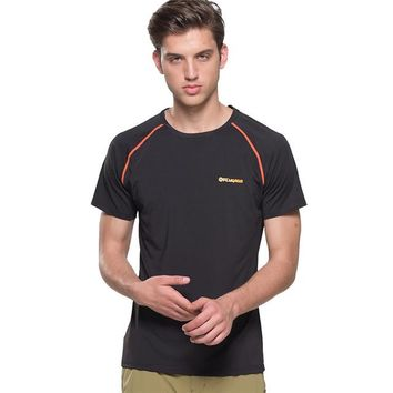 Hiking Shirt camping Mens Summer Thin Section 6 Min Quick Drying Super Stretch Good Breathable T Shirts Outdoor Sportswear Tee Tops FD103 KO_17_1