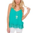 Lidia Lace Top - Teal