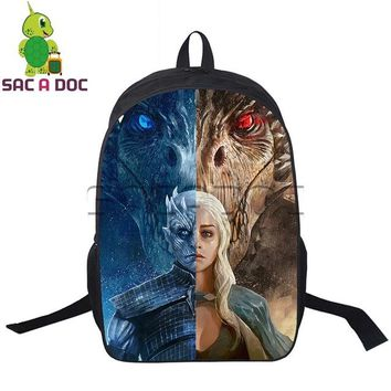 Cool Backpack school Cool Game of Thrones Mother The Other Split Backpack Teens School Bookbag Women Men Casual Daily Backpack Travel Rucksack AT_52_3