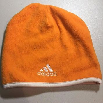 DCCKIHN BRAND NEW ADIDAS ORANGE FLEECE KNIT HAT SHIPPING
