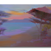 Sunset Beach Painting - Seascape Painting - Affordable Wall Art by Yuri Pysar