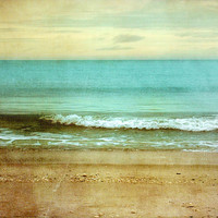 Beach I  8x10 Art Print Cool blue ocean sandy by donnageissler