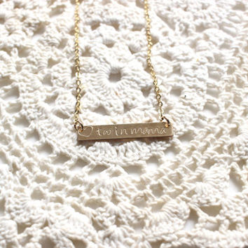 twin mama necklace,  bar necklace, mom necklace, mothers day necklace, gifts for mom, mothers day, mothers necklace, mothers day gift, mama