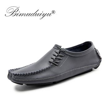 Men Moccasins Leather Casual Shoes Men Flats Oxford Shoes Men Fashion Breathable Driving Shoes