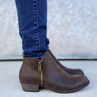Zoey Bootie by Pierre Dumas {Brown}
