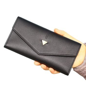 Fashion Women Wallets Lady Handbags Coin Purse Cards ID Holder Envelope Money Bags Clutch Female Long Purses Pocket Wallet Bag