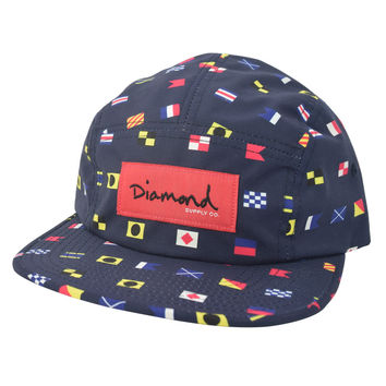 Diamond Nautical Flags Camp CAP Nylon Strap Blue