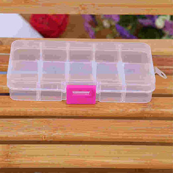 Lovely pet Factory Price Hot Sale 10 Grids Adjustable Jewelry Beads Pills Nail Art Tips Storage Box Case or organizer Aug23