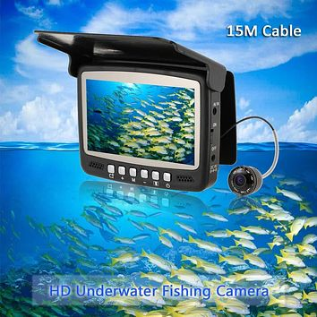 "Digital Color 4.3"" TFT HD Monitor Infrared Underwater Fish Finder with Night Vision"