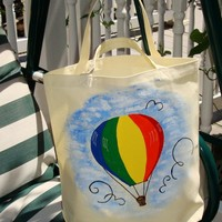 Colorful Hot Air Balloon Tote Bag on Luulla
