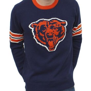 NFL Chicago Bears Unisex Throwback Intarsia Sweater - Men's Sale - All - Junk Food Clothing