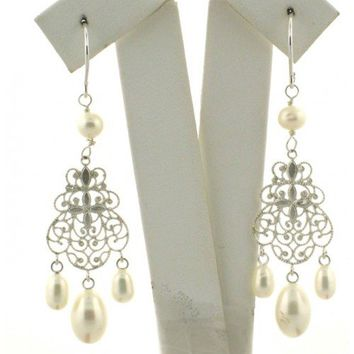 Vintage Style Wedding Pearl Earrings
