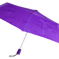 "Totes Automatic Purple Umbrella 42"" Large Auto Open Travel Compact Mini Folds"