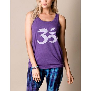 Brushstroke Om Unisex Tank - As is Clearance