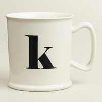 """K"" Monogram Porcelain Mug - World Market"