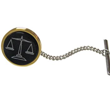 Golden Scale of Justice Law Tie Tack